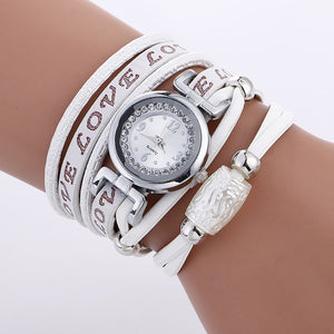 MINHIN Luxury Watches Women Silver Rhinestone Casual Bracelet Quartz Wristwatch Ladies Delicate Gift Clock Love Watch