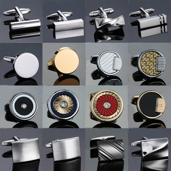 Shirt Cufflinks for Men - Steel, Laser Engraving Cuff Links,  French Sleeve Shirt Cufflinks