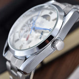 New Men Mechanical Wrist Watches Luxury Brand Goer Tourbillon Automatic Mechanical Watches Moon phase Relogio Masculino