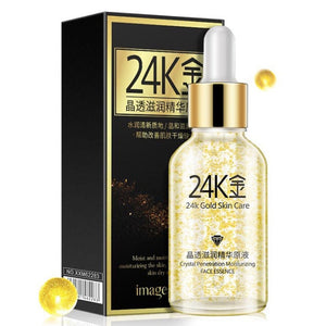 24K Gold Collagen Elastin Serum, Anti-wrinkle, moisturizing serum, Acne Treatment, Whitening Face, Ageless Beauty Skin Care on SALE