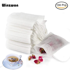 Disposable Tea Bags Empty Scented Tea Bag With String Heal Seal Filter Paper for Herb Loose Tea (100Pcs)