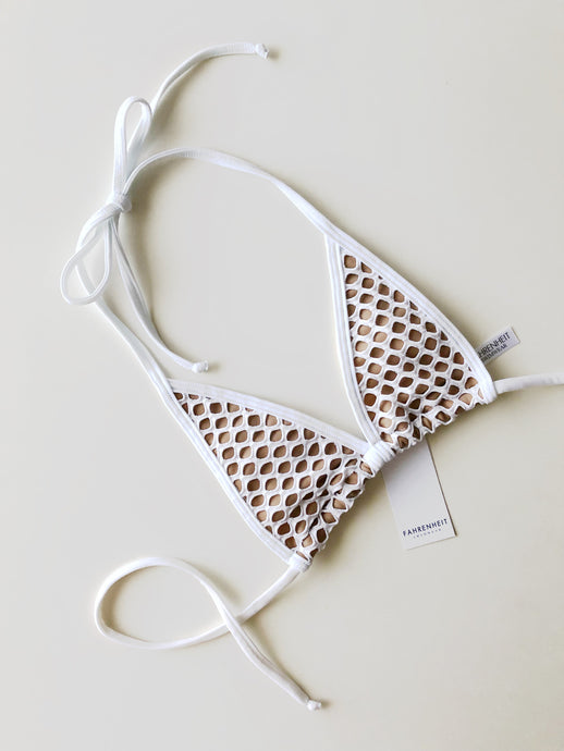Extreme Micro White Net Top