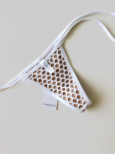 Micro White Net Tie Sides Bottom