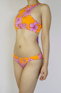 Lilac Hawaiian Flowers Structured Top