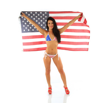 Load image into Gallery viewer, 4th of July Bikini - Americana - American Flag Bikini - Made in America - Fahrenheit Swimwear