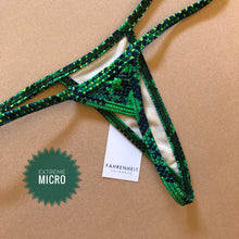 Load image into Gallery viewer, Emerald Snakeskin Tie Sides Bottom