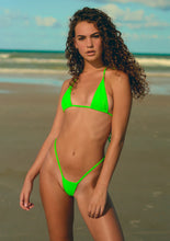 Load image into Gallery viewer, Extreme Micro Neon Green Small Tiny Stripper Bikini Top