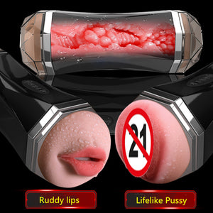 Dual Channel Massager Men Masturbation Aircraft Cup