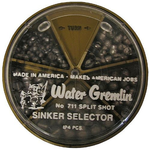 Water Gremlin Removable Split-Shot Sinker Selector - (124 Pc.)