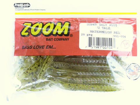 Zoom U Tail Worm Watermelon Red 20 pkg