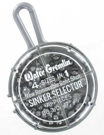 Water Gremlin Removable Split-Shot Sinker Selector - 78pc