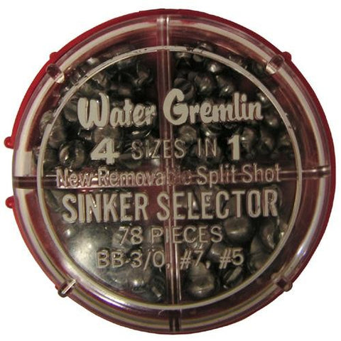 Water Gremlin Removable Split-Shot Sinker Selector - (78 Pc.)
