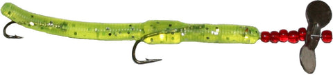 Worm Rival Spin- chartreuse