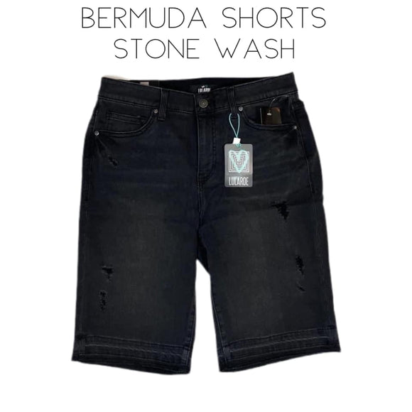 Bermuda Shorts - Stone Wash
