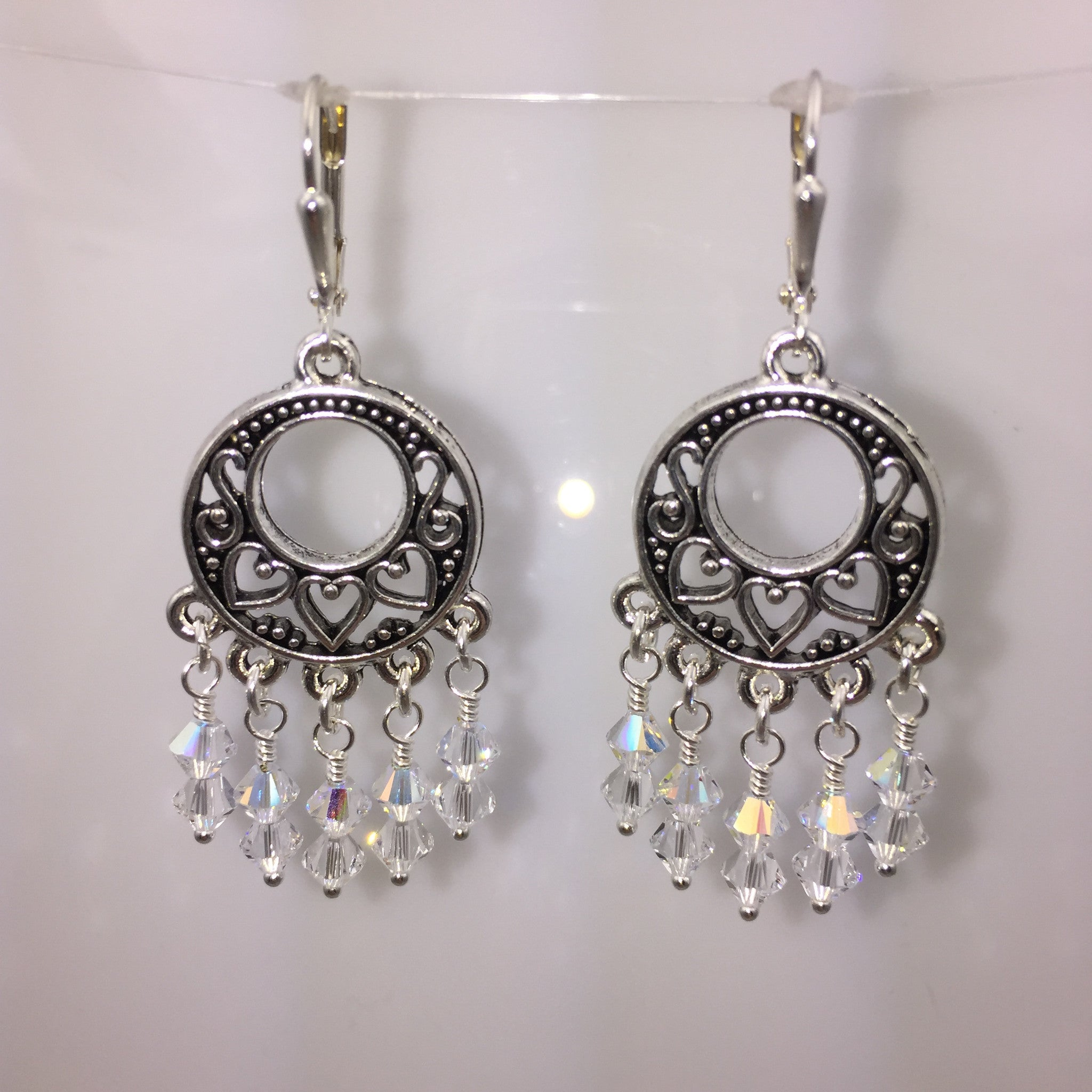 Pewter Small Circle Earrings
