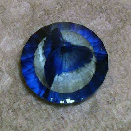 Marble Ring, Blue, w/4 accents