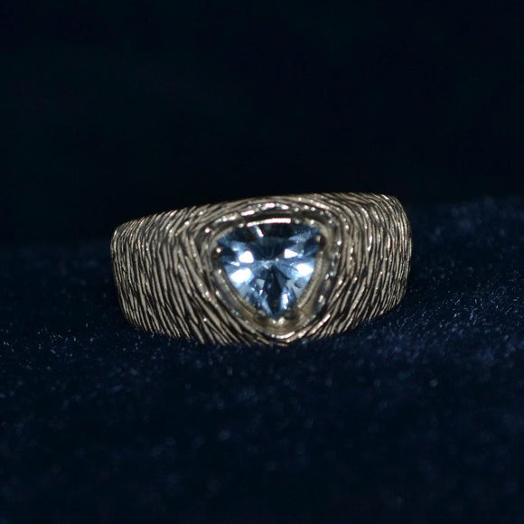 Blue Trillion Ring