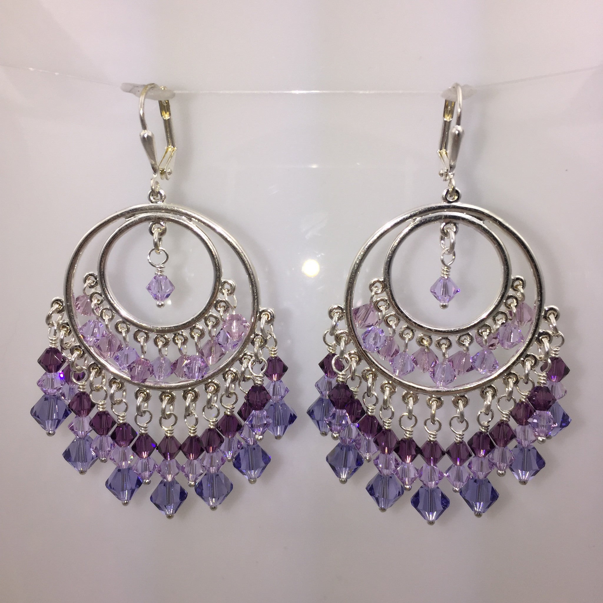 Double Loop Crystal Earrings