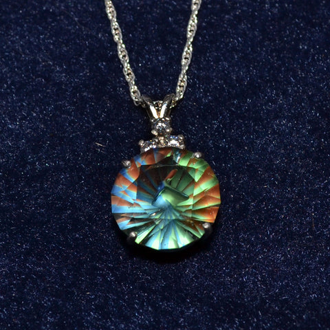 Marble Pendant, Red/Green/Blue, w/3 accents