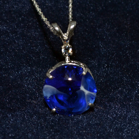 Marble Pendant, Deep Blue, w/1 accent