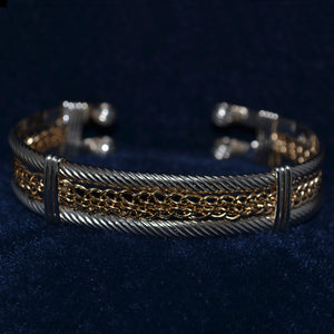 Framed Braided Cuff Bracelet