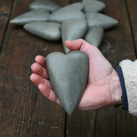 Hand Carved Stone Heart