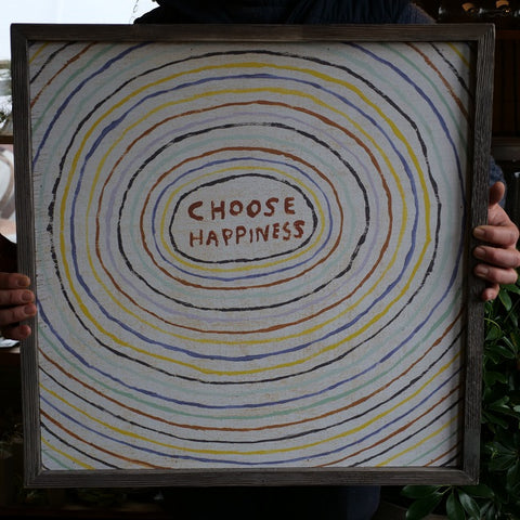 Choose Happiness Framed Wall Art