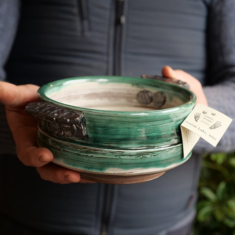 Green Ceramic Container - Locally Made