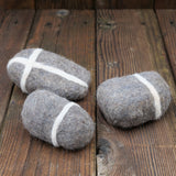Felted Stone - Set of Three