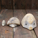 Carved Stone Hedgehog