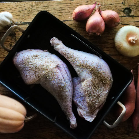 """WEEKLY FARMER FEATURE""  Pasture Raised Turkey Leg/Thigh 2 pack."