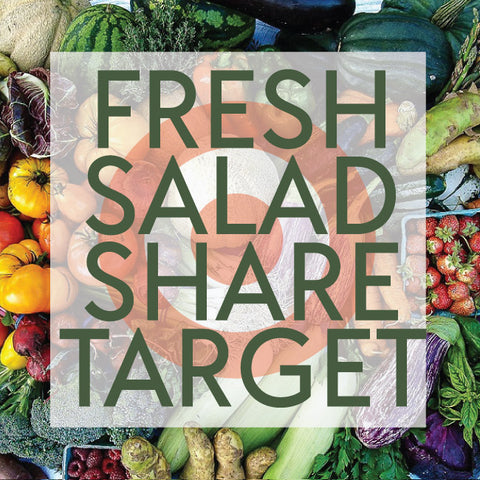 Tangletown Gardens 2019 CSA Fresh Salad Share for Target Employees