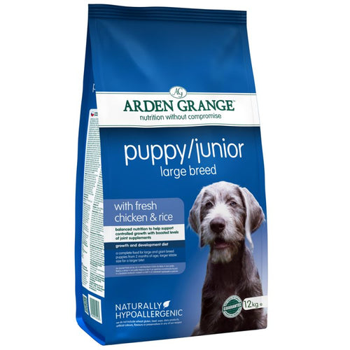 Arden Grange Puppy/Junior Large Breed Chicken & Rice Dry Dog Food, 12kg