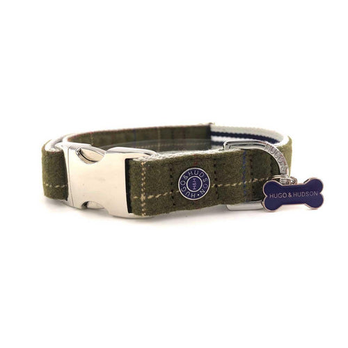 Hugo & Hudson Premium Tweed Dog Collar