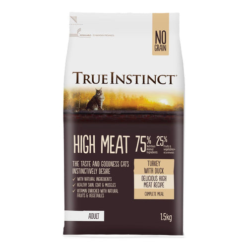Natures Menu True Instinct High Meat Adult Cat Food Turkey with Duck 1.5kg
