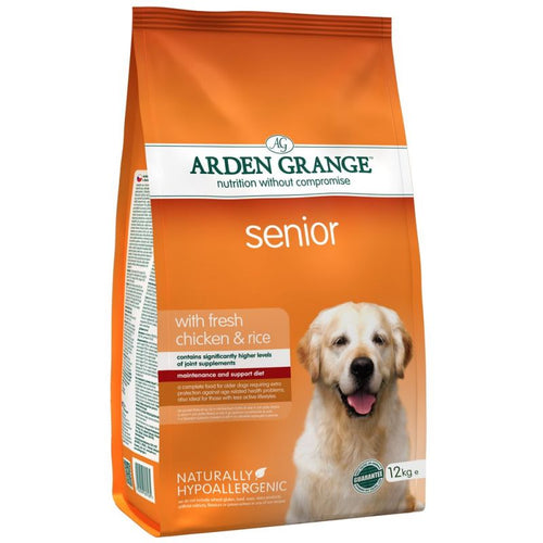 Arden Grange Senior Chicken & Rice Dry Dog Food 12kg
