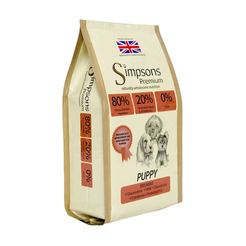 Simpsons 80/20 Puppy Food Mixed Meat & Fish, 12kg