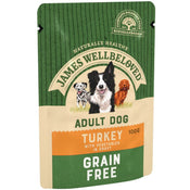 James Wellbeloved Pouches Grain Free Turkey Adult Dog Food, 12x100g