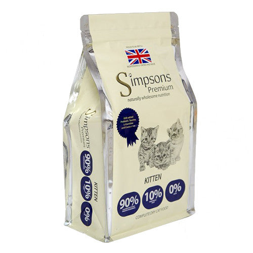 Simpsons 90/10 Kitten Food Mixed Meat & Fish 1.5kg