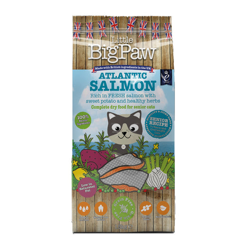 Little Big Paw Atlantic Salmon Complete Senior Cat