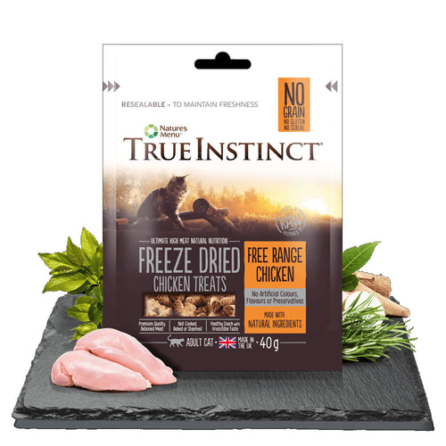 Natures Menu True Instinct Freeze Dried Adult Cat Treats Chicken