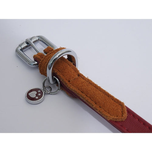 Rosewood Luxury Leather Dog Collar Soft Touch