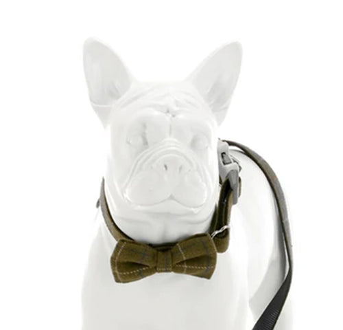 Hugo & Hudson Premium Tweed Dog Bow Tie