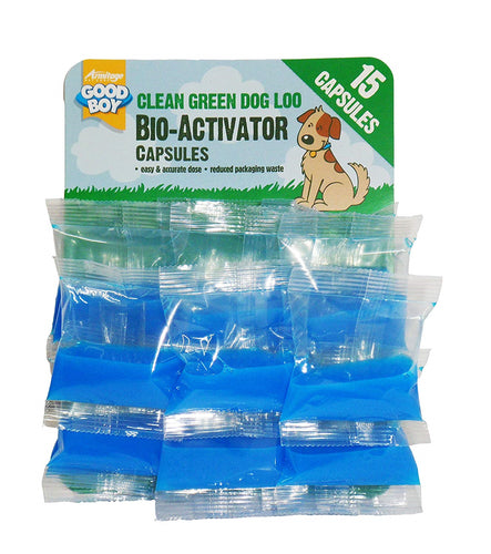 Good Boy Clean Green Dog Loo Bioactivator Capsules 15pcs