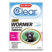 Bob Martin Clear 3 in 1 Wormer for Dogs 3kg - 40kg