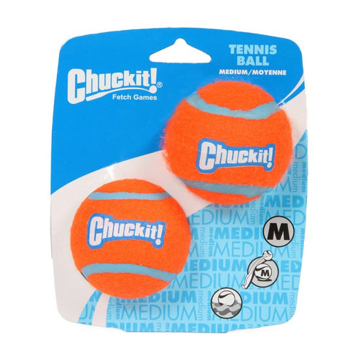 Chuckit Tennis Ball Medium 6.5cm 2pk