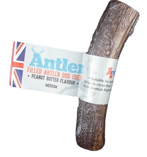 Antos Peanut Butter Filled Antler Dog Chew