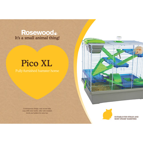 Rosewood Pico Hamster Home XL Silver & Green