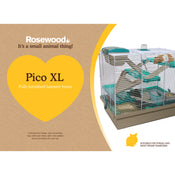 Rosewood Pico Hamster Home XL Translucent Teal