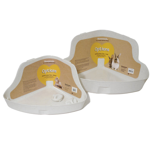 Rosewood Corner Litter Tray